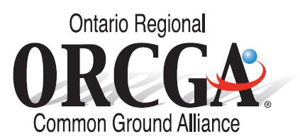 The Ontario Regional Common Ground Alliance (ORCGA)